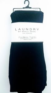 2pk Laundry Fleece Lined Footless Tights